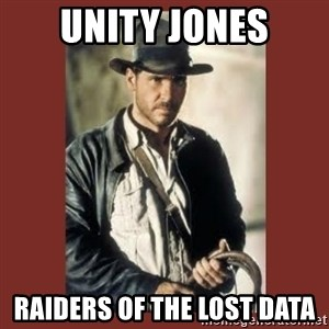 Indiana Jones - Unity Jones Raiders of the Lost Data