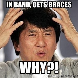 Confused Jackie Chan - In Band, Gets Braces WHY?!