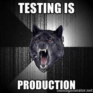 Insanity Wolf - testing is production