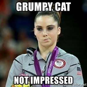 Not Impressed McKayla - grumpy cat  not impressed