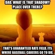 The Lion King - Dad, What is that shadowy place over there? That's Guaranteed Rate field, its where baseball careers go to die.