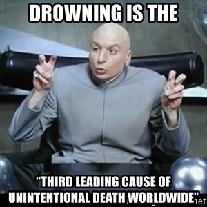"dr. evil quotation marks - Drowning is the ""third leading cause of unintentional death worldwide"""