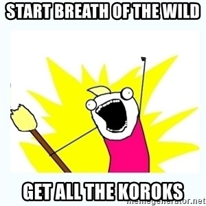 All the things - Start Breath of The wild  Get all the Koroks