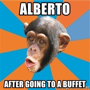Stupid Monkey - ALBERTO  AFTER GOING TO A BUFFET