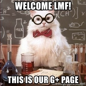 Science Cat - Welcome LMF! This is our G+ page