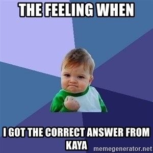 Success Kid - The feeling when I got the correct answer from kaya