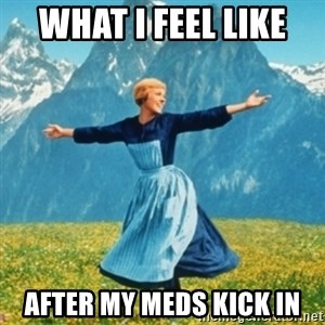 Sound Of Music Lady - What I feel like  After my meds kick in