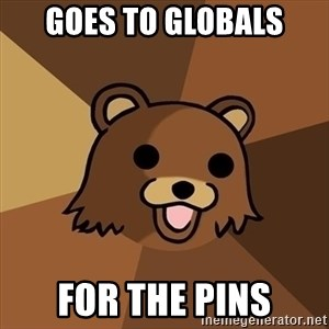 Pedobear - Goes to Globals For the pins