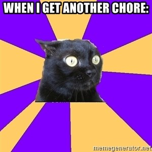 Anxiety Cat - When i get another chore: