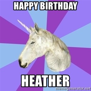 ASMR Unicorn - HAPPY BIRTHDAY HEATHER