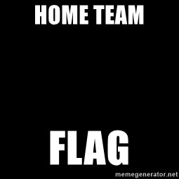 Blank Black - Home Team  Flag