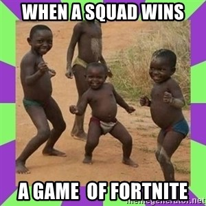 african kids dancing - When a squad wins  A game  of fortnite