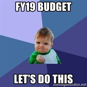 Success Kid - FY19 Budget Let's Do This