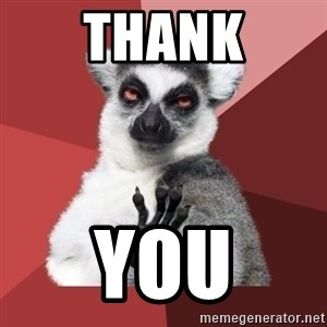Chill Out Lemur - Thank You