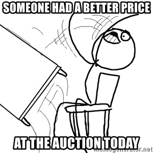 Desk Flip Rage Guy - someone had a better price at the auction today