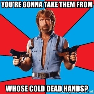 Chuck Norris  - You're gonna take them from whose cold dead hands?