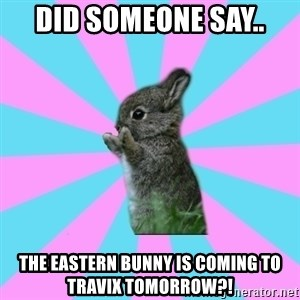 yAy FoR LifE BunNy - did someone say.. the eastern bunny is coming to travix tomorrow?!