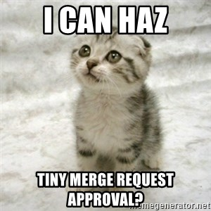 Can haz cat - I can haz tiny merge request approval?