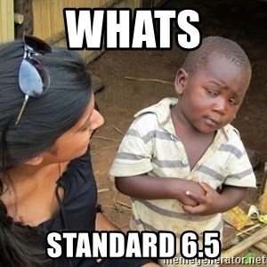 Skeptical 3rd World Kid - whats  standard 6.5