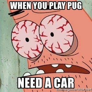 Patrick - WHEN YOU PLAY PUG NEED A CAR