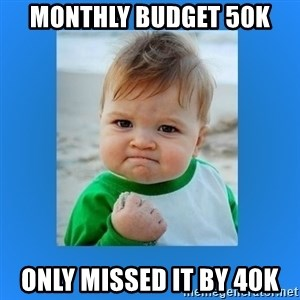 yes baby 2 - Monthly Budget 50k Only missed it by 40k