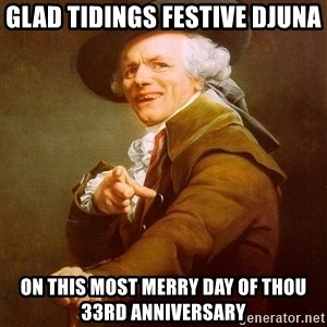 Joseph Ducreux - glad tidings festive djuna on this most merry day of thou 33rd anniversary