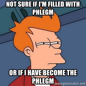 Futurama Fry - Not sure if i'm filled with phlegm Or if i have become the phlegm
