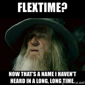 no memory gandalf - Flextime? Now that's a name I haven't heard in a long, long time.