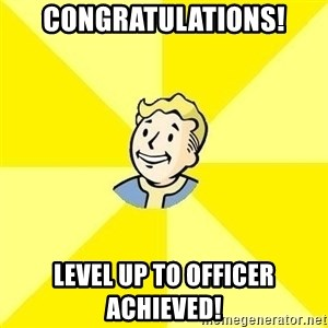 Fallout 3 - CONGRATULATIONS! LEVEL UP TO OFFICER ACHIEVED!