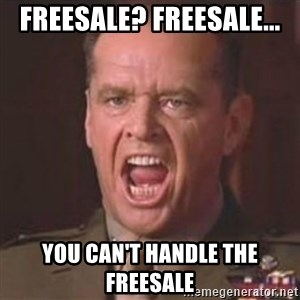 Jack Nicholson - You can't handle the truth! - Freesale? Freesale... you can't handle the freesale