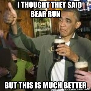 obama beer - i thought they said bear run but this is much better