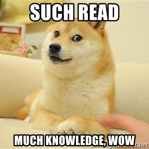 so doge - Such read Much knowledge, wow