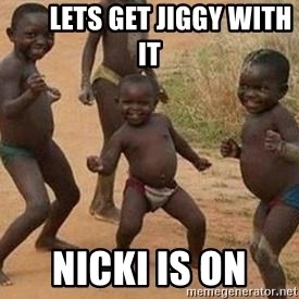 african children dancing - Lets get jiggy with it Nicki is on