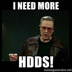 Christopher Walken Cowbell - I need more HDDs!