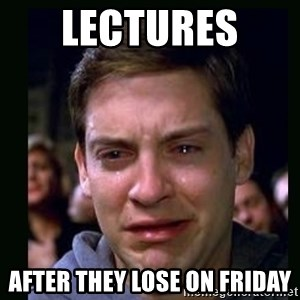 crying peter parker - Lectures  After they lose on Friday