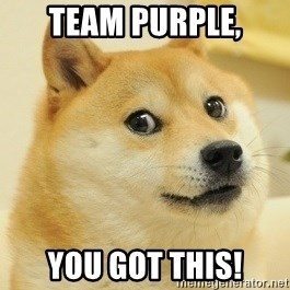 Dogeeeee - Team Purple, You got this!