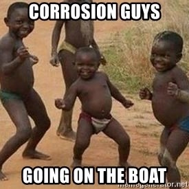 african children dancing - Corrosion guys going On the Boat