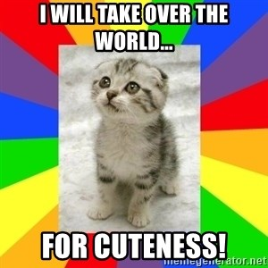 Cute Kitten - I will take over the world... For cuteness!