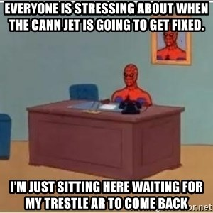 Spiderman Desk - Everyone is stressing about when the cann jet is going to get fixed. I'm just sitting here waiting for my trestle AR to come back