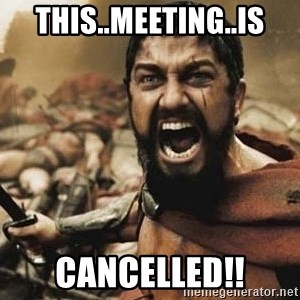 300 - THIS..MEETING..IS CANCELLED!!