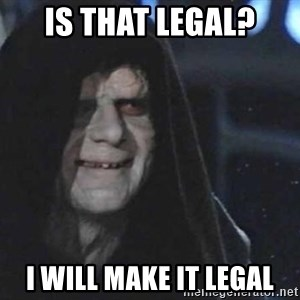 Creepy Emperor Palpatine - Is that legal? I will make it legal