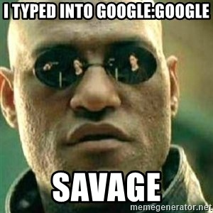 What If I Told You - I typed into Google:Google Savage