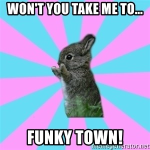 yAy FoR LifE BunNy - Won't you take me to... Funky Town!