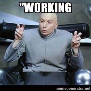 """dr. evil quotation marks - """"working"""