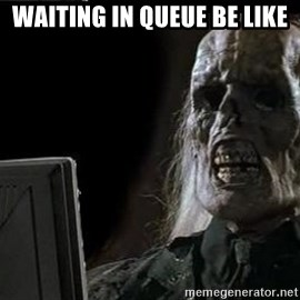 OP will surely deliver skeleton - Waiting in Queue be like