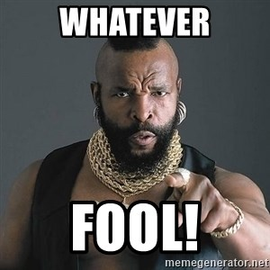Mr T - Whatever Fool!