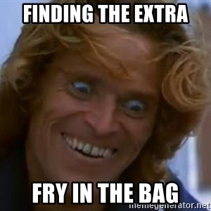 Foul Bachelor Frog - Finding the extra Fry in the bag