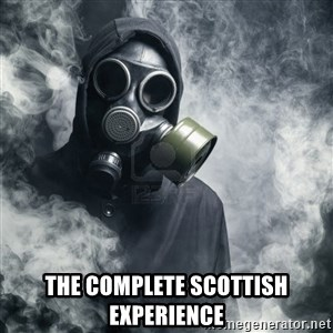 gas mask - The complete scottish experience
