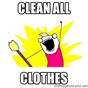 clean all the things blank template - clean all clothes