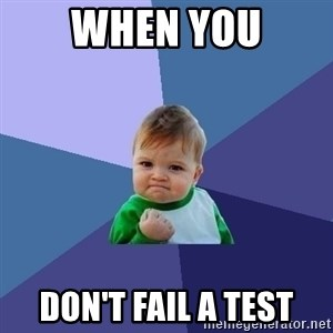 Success Kid - When You Don't Fail a test